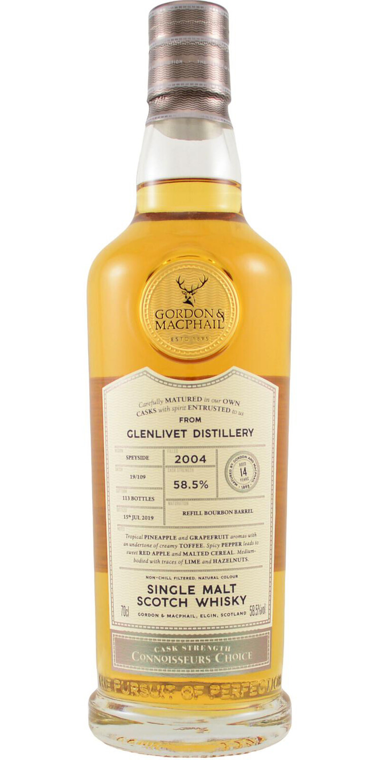 Glenlivet 14 years Gordon & Machail  58,4% 70CL