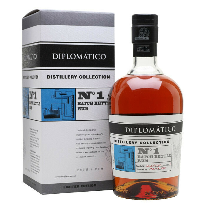 Diplomatico Distillery Collection No.1 Batch Kettle Rum  47% 70CL