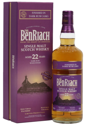 BenRiach 22 Years Dark Rum Finished  46% 70CL