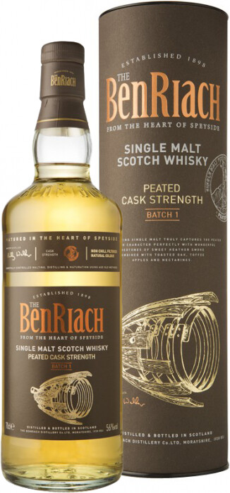 BenRiach Peated Cask Strenght 56% 70CL