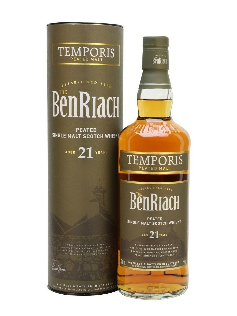 BenRiach Peated 21 years Temporis Peated Malt 46% 70 CL
