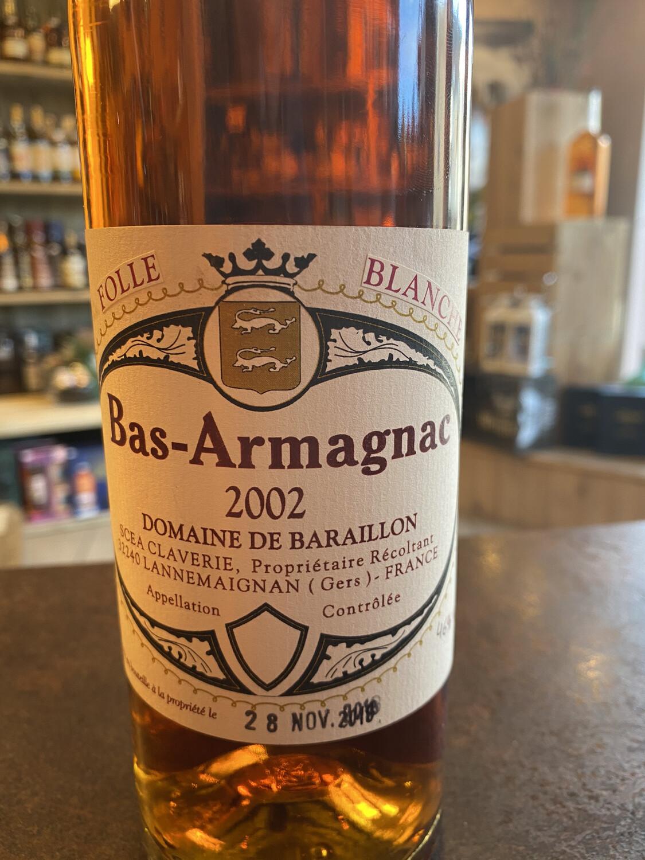 Bas-Armagnac 2002 Folle Blanche 46% 70cl