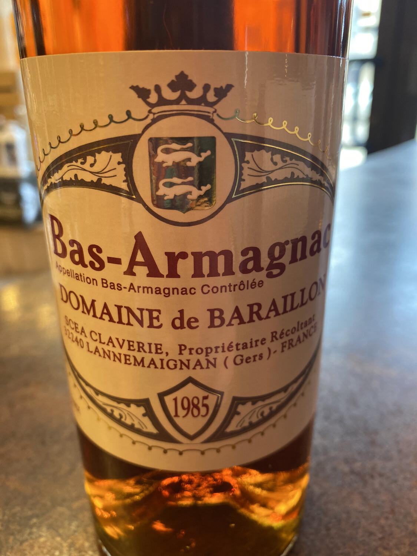Bas-Armagnac Domaine De Baraillon 1985 46% 70 Cl