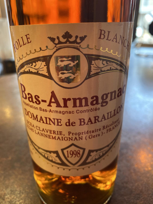 Bas-Armagnac Domaine De Baraillon 1998 Folle Blanche 43% 70CL