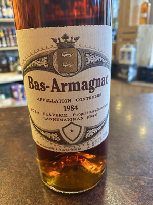 Bas-Armagnac Appellation Controlee 1984 45% 70CL