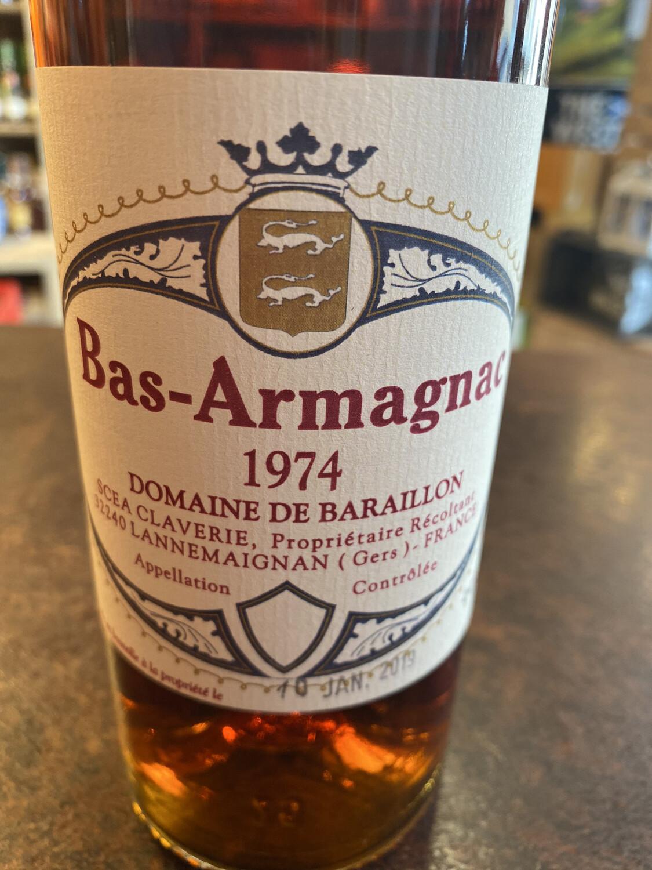 Bas-Armagnac Domaine De Baraillon 1974 44% 70cl