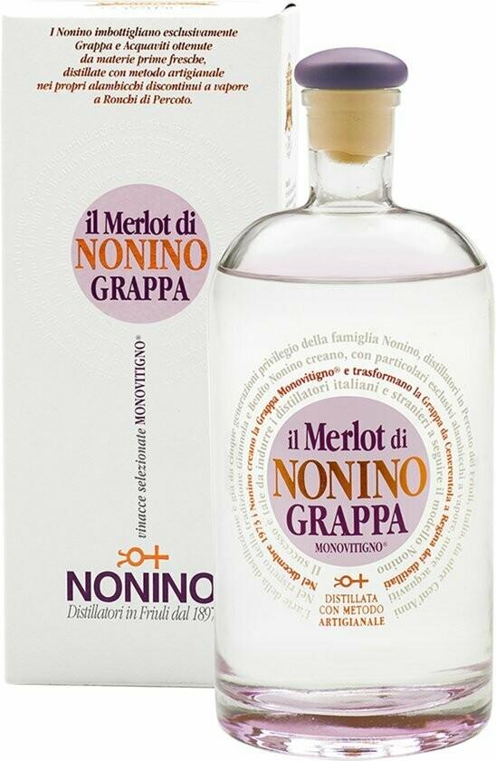 Nonino Grappa Merlot 41% 70CL