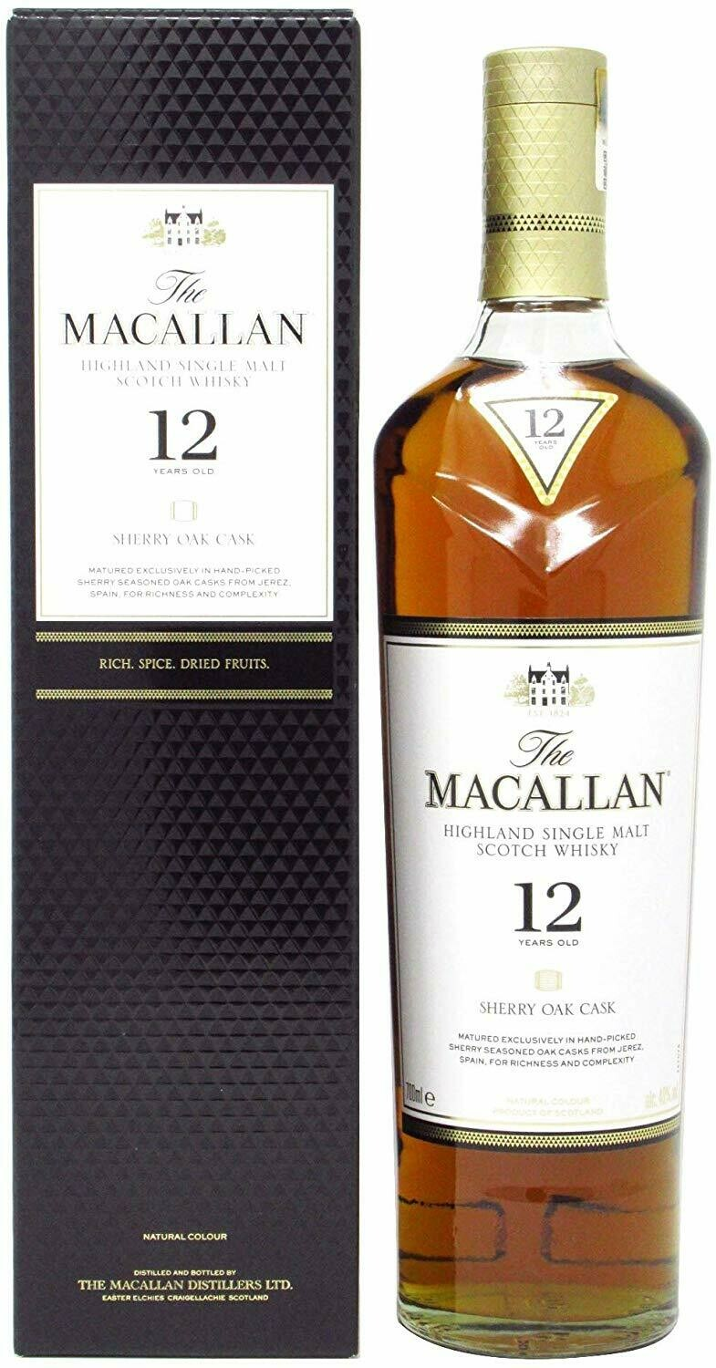 The Macallan 12 Years Sherry Oak Cask 40% 70CL