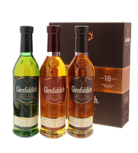 Glenfiddich 3x20CL 40% 12, 15, 18 Years old