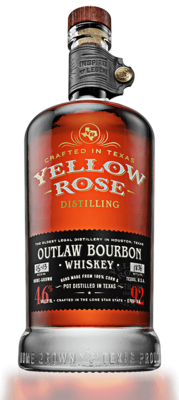 Yellow Rose Outlaw Bourbon Whiskey 46% 70CL