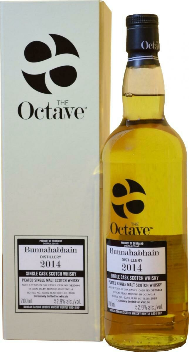Bunnahabhain 2014 Peated The Octave 55.3% 70CL