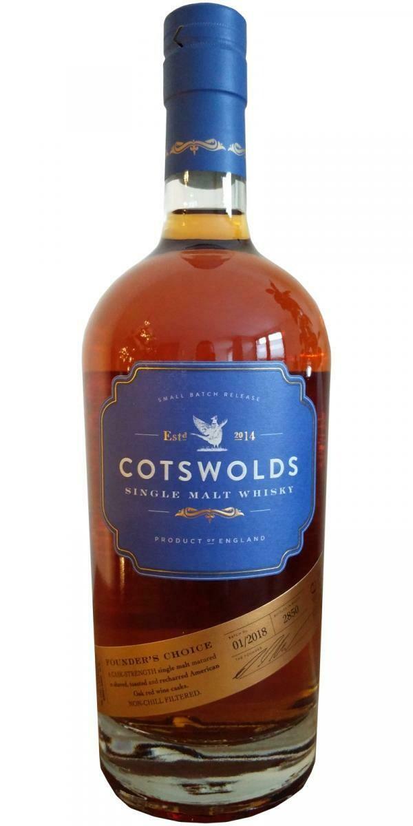 Cotsworlds Single Malt Founder's Choice 60.3% 70CL
