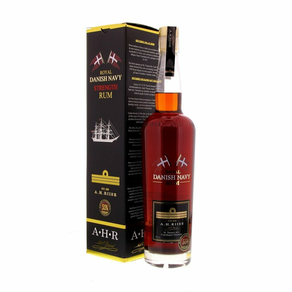 A.H. Riise Danish Navy Strenght Rum 55% 70CL