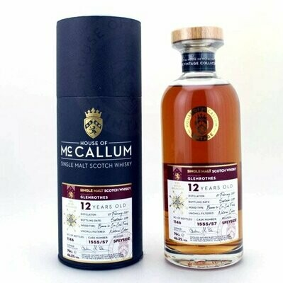 Glenrothes McCallum 12yo 2007 1er Grand Cru Finish 46,5%