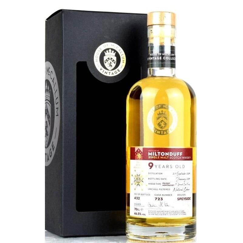 McCallum Miltonduff 9 years Burgundy Finish 46.5% 70CL