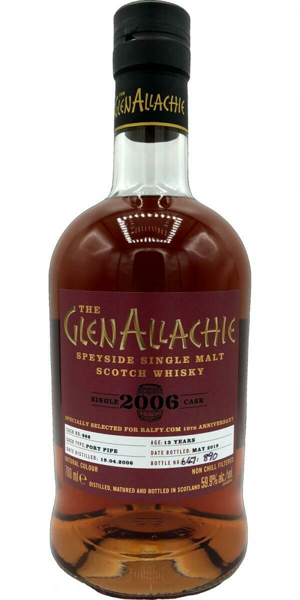 GlenAllachie Single Cask 13 Years For Ralfy.Com 59.9% 70CL