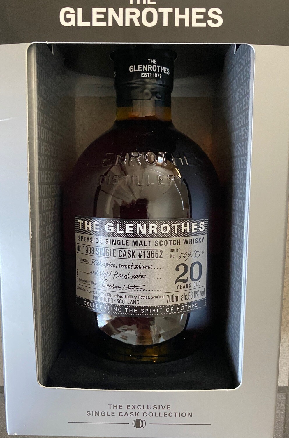 Glenrothes 20 Years old Single Cask 56.8% 70CL