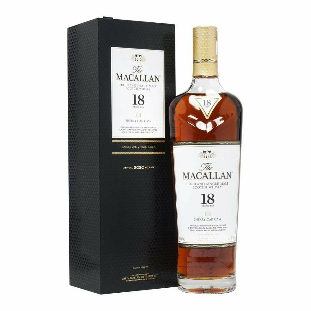 Macallan 18 Years Sherry cask 2020 Release 43% 70CL