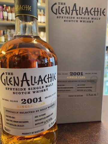 GlenAllachie Virgin Oak 2001 Single Cask 51,70% 70CL