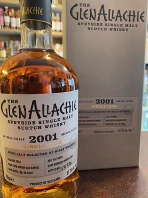 GlenAllachie Virgin Oak 2001 Single Cask 51,70% 70CL