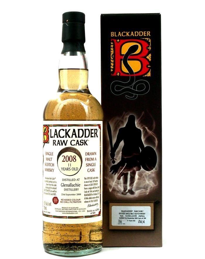 GlenAllachie 11 Years 2008 Blackadder 63% 70Cl