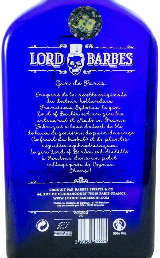 Lord Of Barbes Gin (Bio) 50% 0.5L