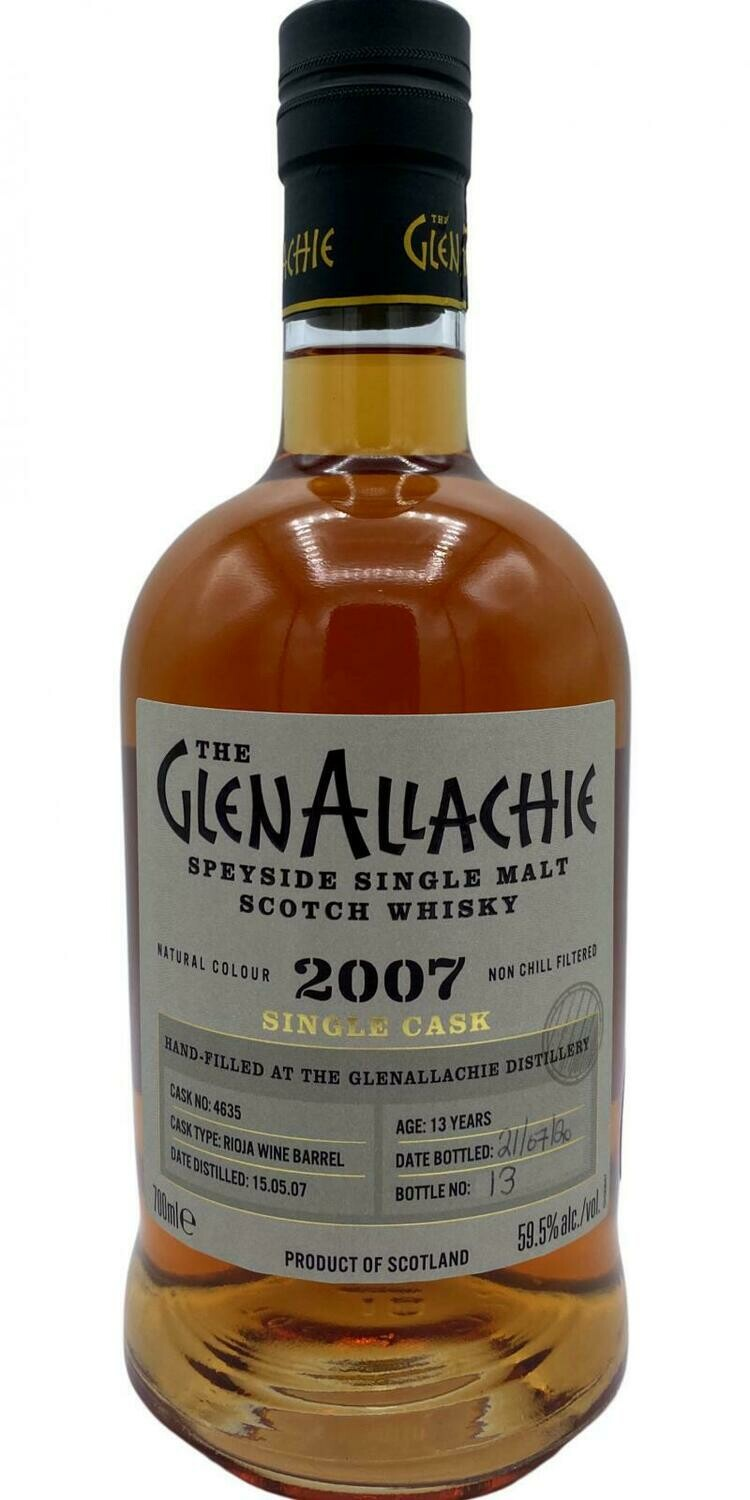 GlenAllachie Single Cask 2007 59.5% 70CL