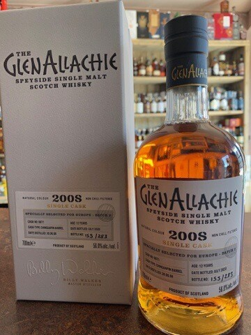GlenAllachie 2008 Single Cask Europe Chinquapin 12 Years 56% 70 CL
