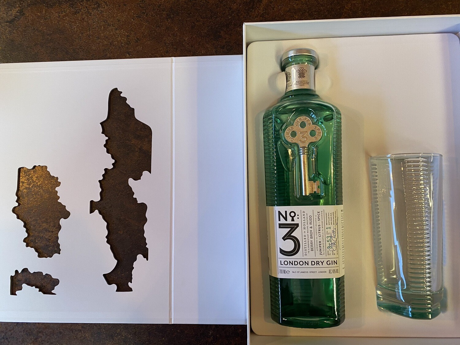 London No3 Gin 46% 70cl Gift Pack