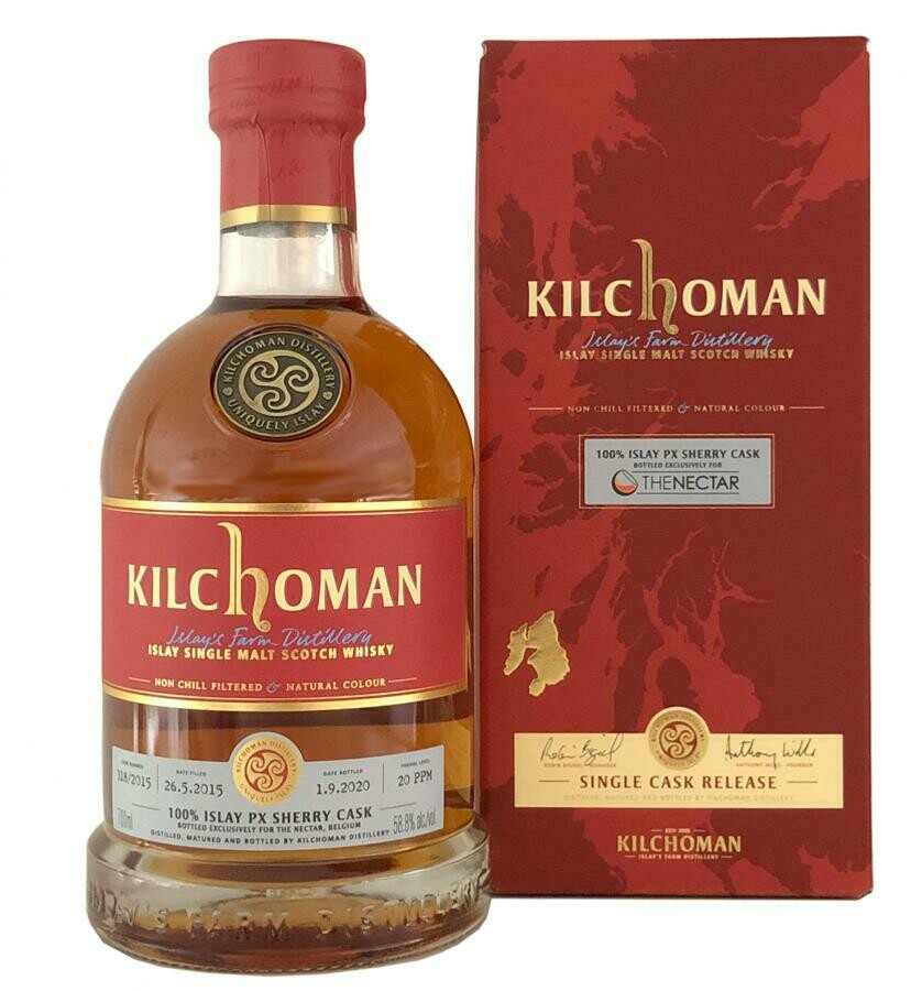 Kilchoman 100% islay px sherry cask 58.8% 70CL
