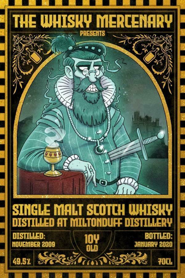 Miltonduff 10 Years the Whisky Mercenary 49.5%