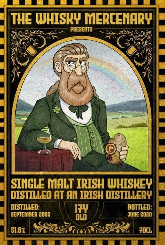 The Whisky Mercenary Single Malt Irish Whiskey 17 Years 51.7%