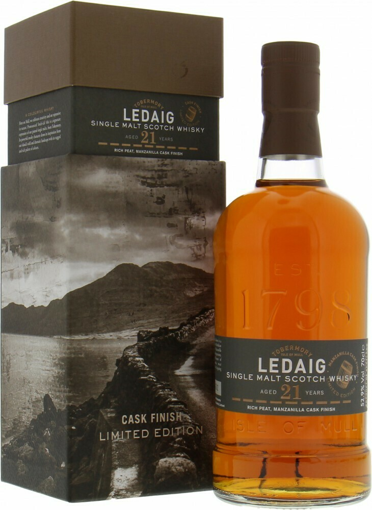 Ledaig 21 Years Cask Finish Limited Edition 55.8% 70CL