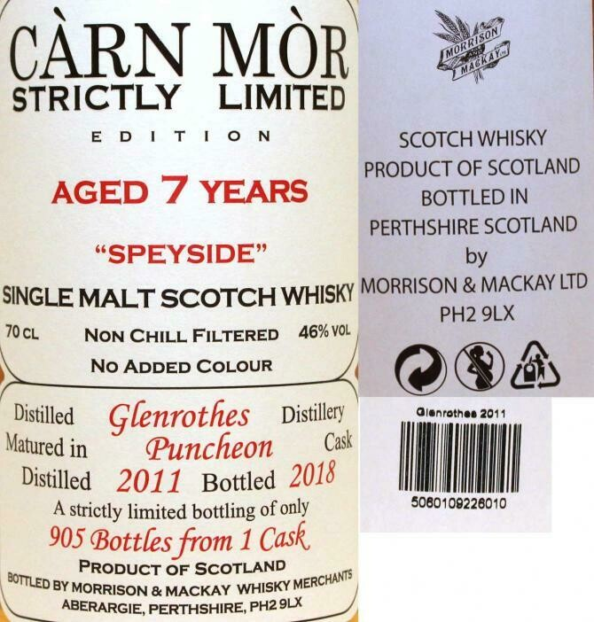 Glenrothes 7 Years Carn Mor 46% 70CL