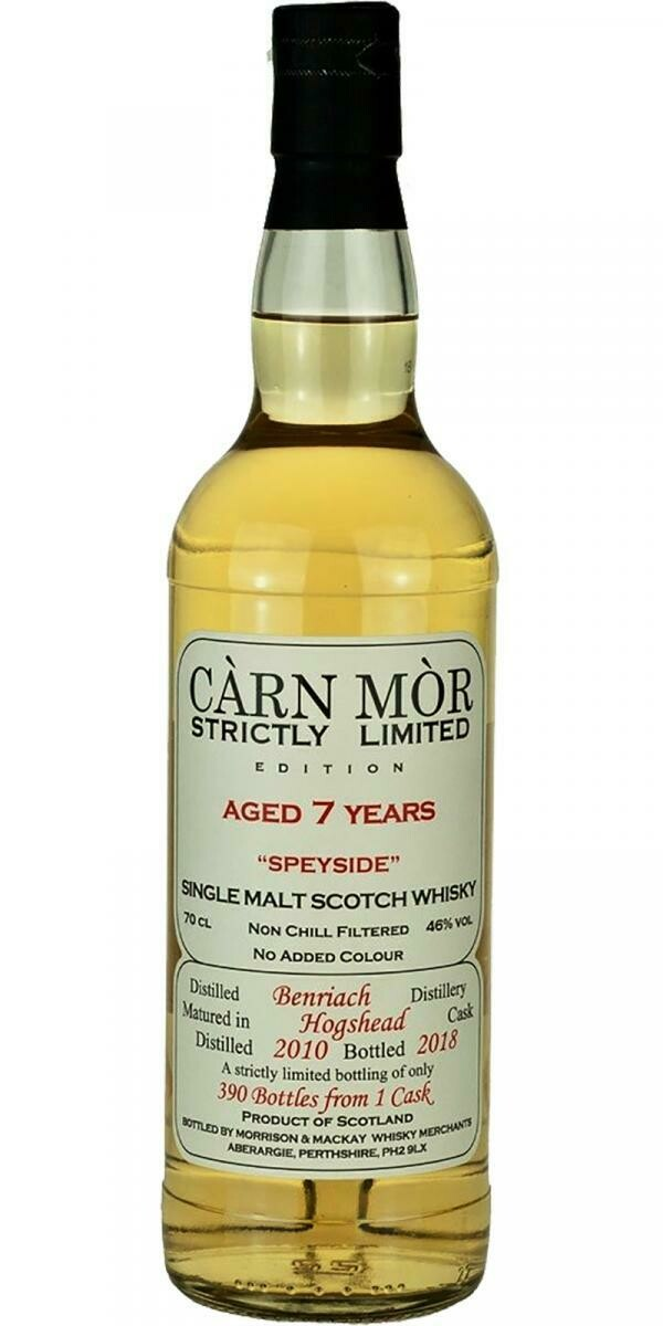 Benriach 8 Years 46% Carn Mor 46% 70CL