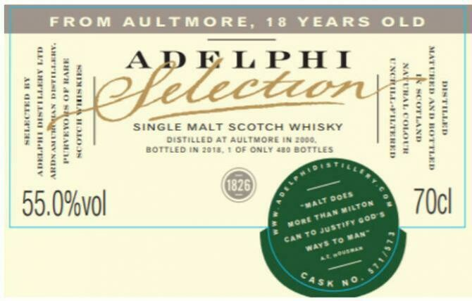 Aultmore 18 Years Adelphi 55.0% 70CL