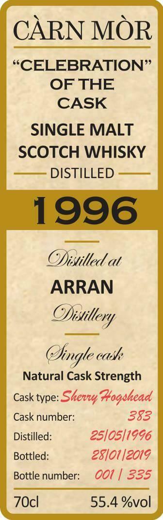 Arran 1996 Carn Mor 55.4% 70CL