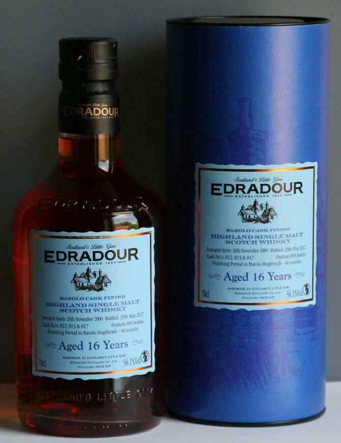 Edradour 16 Years Barolo Cask 56.1% 70CL