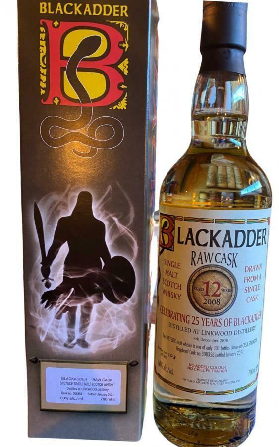 Linkwood 12 Years Celebrating 25 Years of Blackadder 60% 70CL