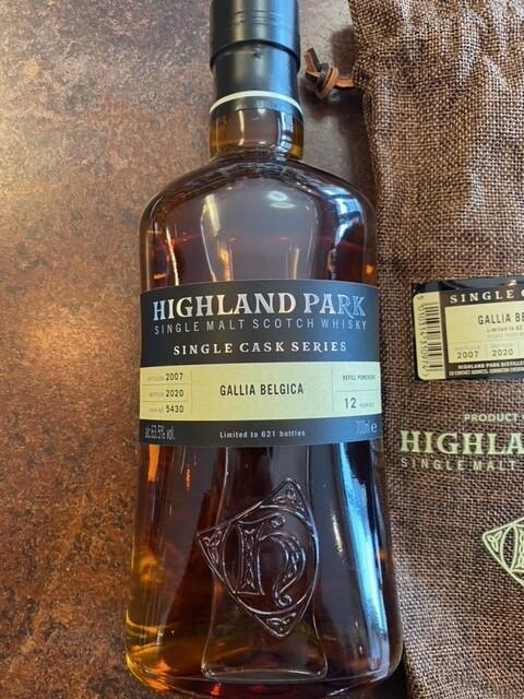 """Highland Park Single Cask Series """"Gallia Belgica"""" 63.5% 70CL"""