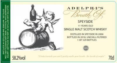 Adelphi's Breath of Speyside 11 Years 58.2% 70CL