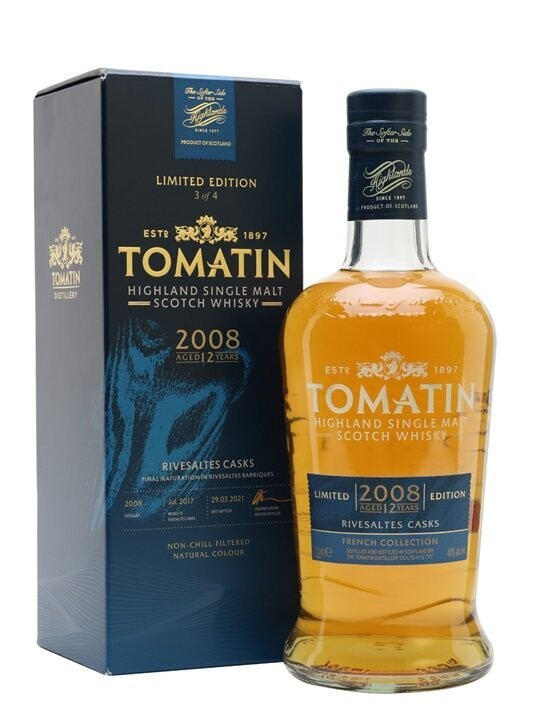 Tomatin French Collection Riversaltes Casks 2008 12 Years 46% 70CL