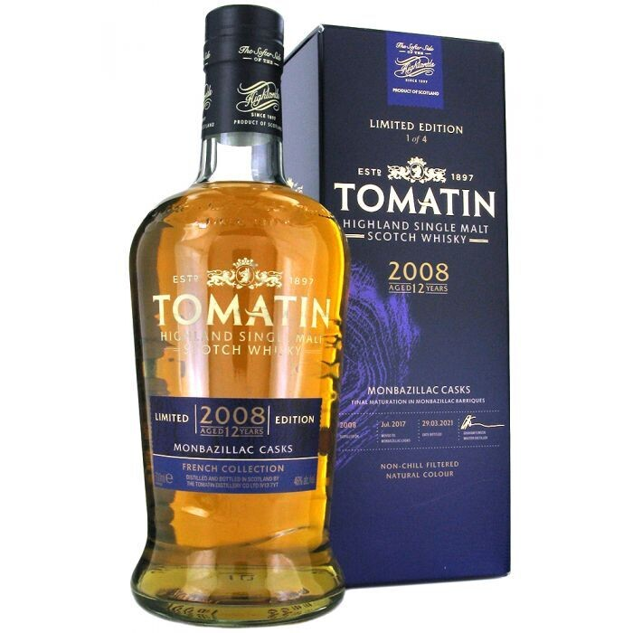 Tomatin French Collection Monbazillac Casks 2008 12 Years 46% 70CL