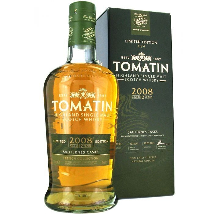 Tomatin French Collection Sauternes Casks 2008 12 Years 46% 70CL