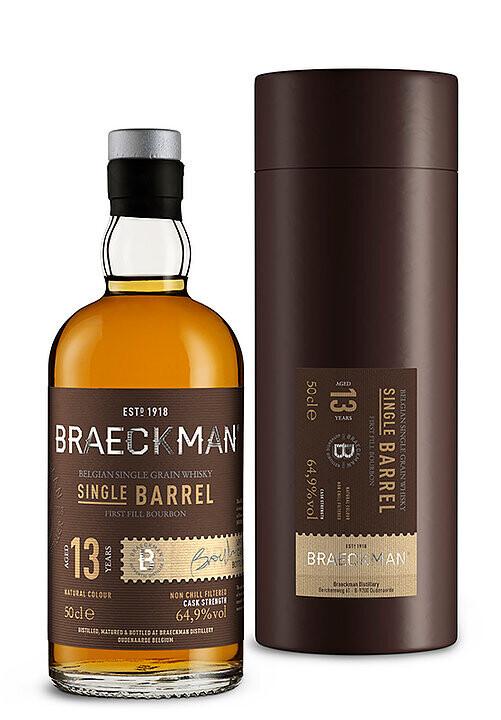 Braeckman Single Barrel 13 Years Bourbon 64.9% 50CL