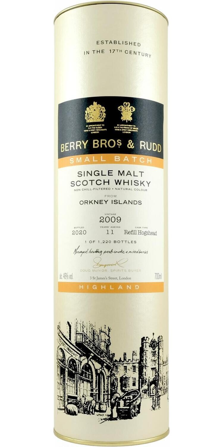 Orkney Islands 2009 11 years Berry Bros & Rudd 48% 70CL
