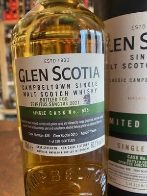 Glen Scotia Single Cask Bottled For Spiritus Sanctus 2021 60.1% 70CL