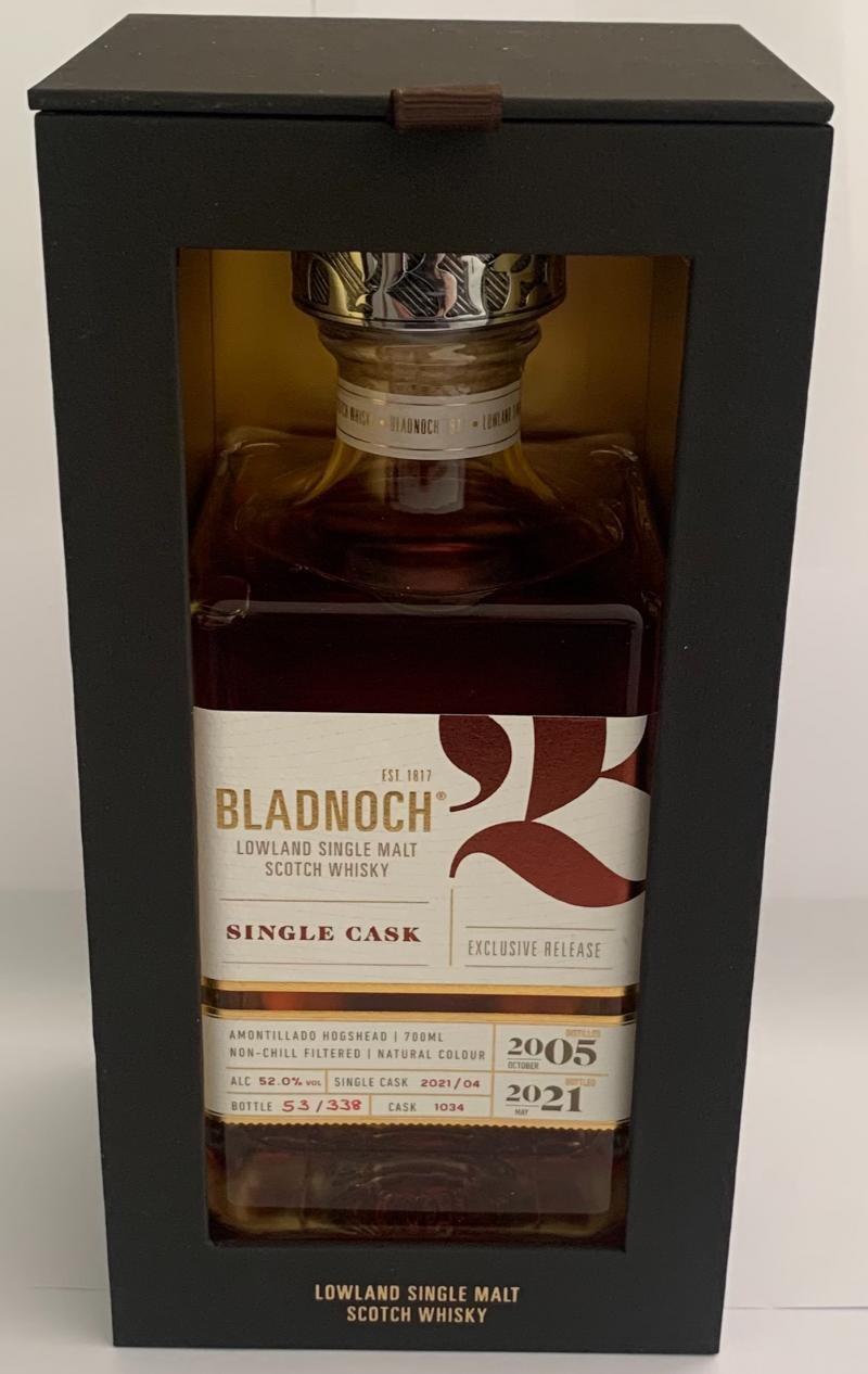 Bladnoch Single Cask Amontillado 52% 70CL
