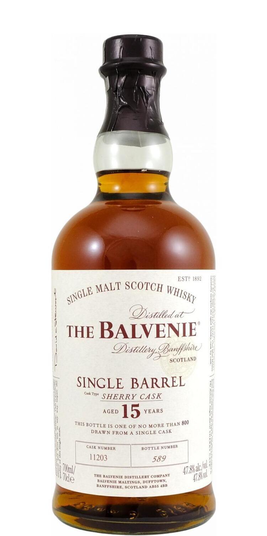The Balvenie 15 Years Single Barrel  Sherry Cask 47.8% 70CL