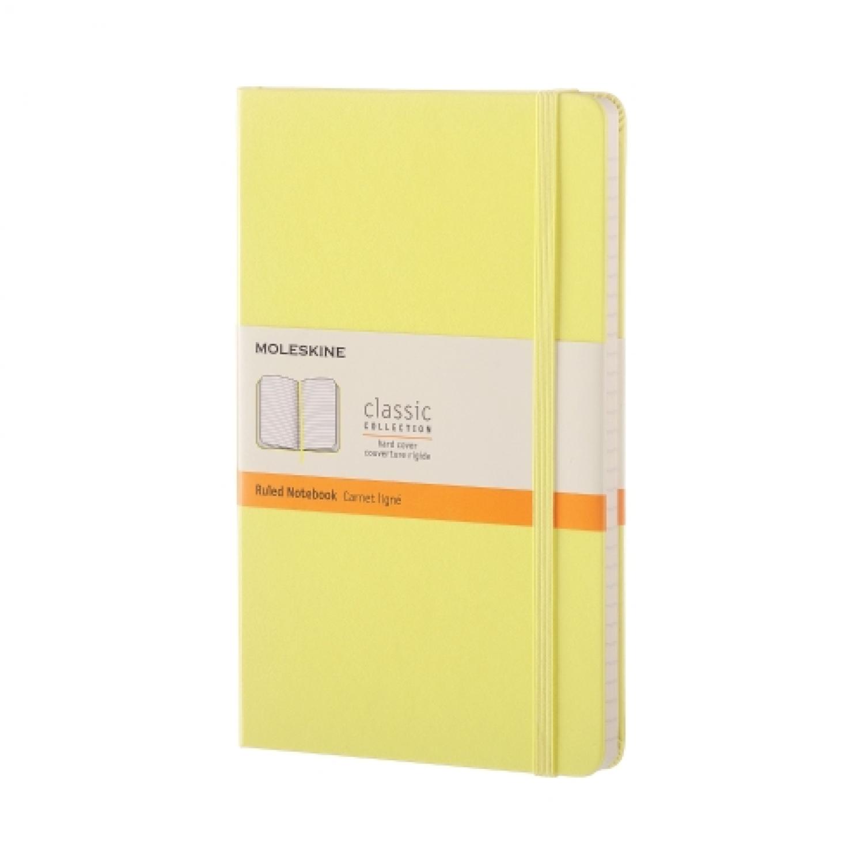Moleskine notebook large citroengeel gelijnd